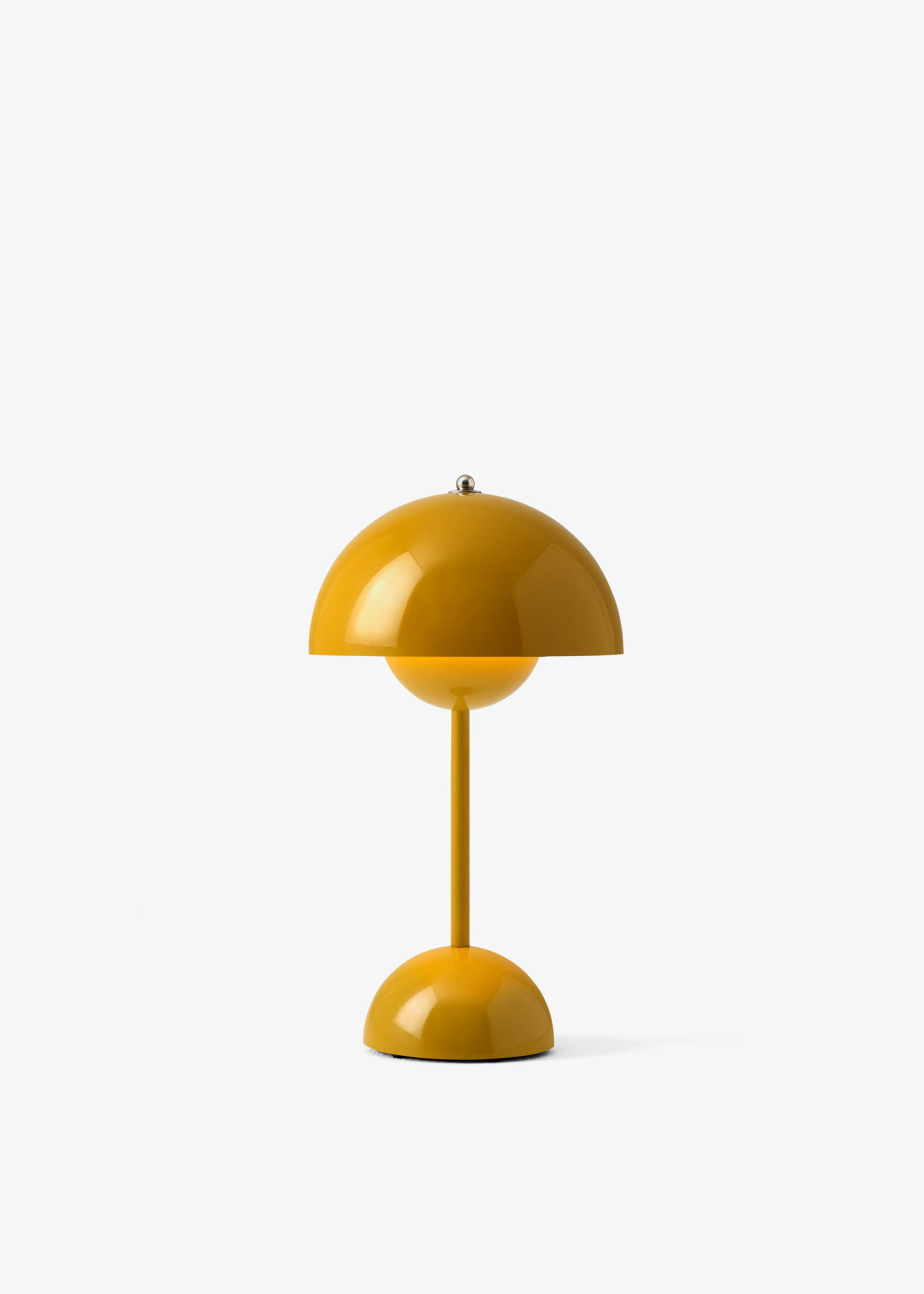 & Tradition Verner Panton Flower Pot Mini Lamp in Mustard