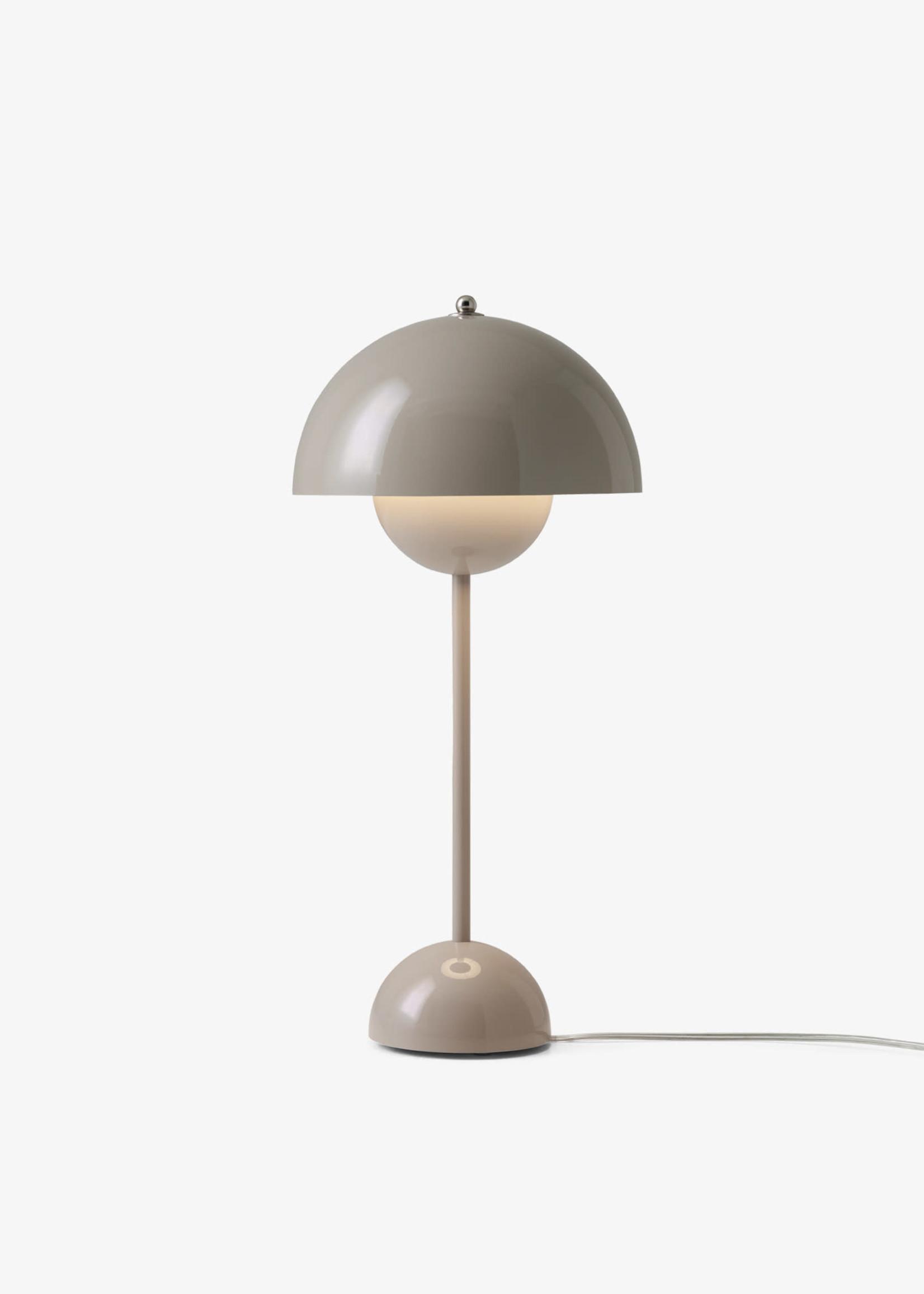 & Tradition Verner Panton Flower Pot Table Lamp in Grey Beige