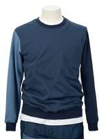 COMME des GARÇONS SHIRT Color Block Crewneck Sweatshirt in Blue