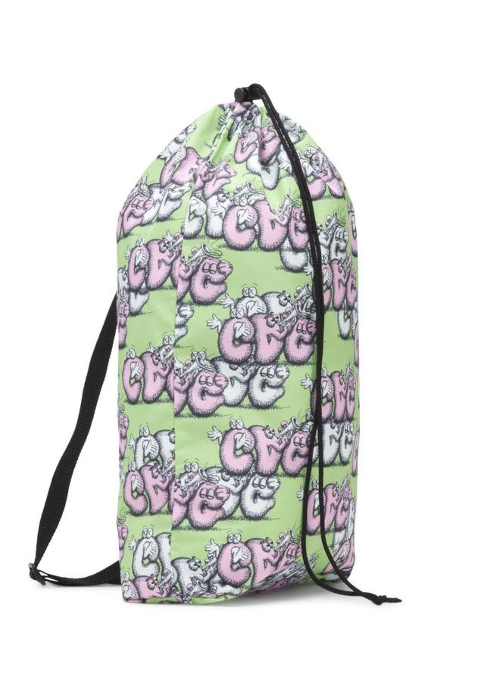 COMME des GARÇONS SHIRT CDG X KAWS Bag in Green and Pink