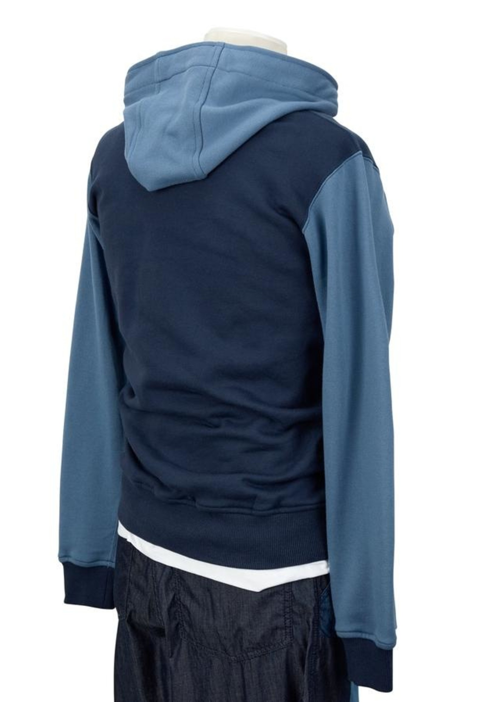 COMME des GARÇONS SHIRT Color Block Hooded Sweatshirt in Blue