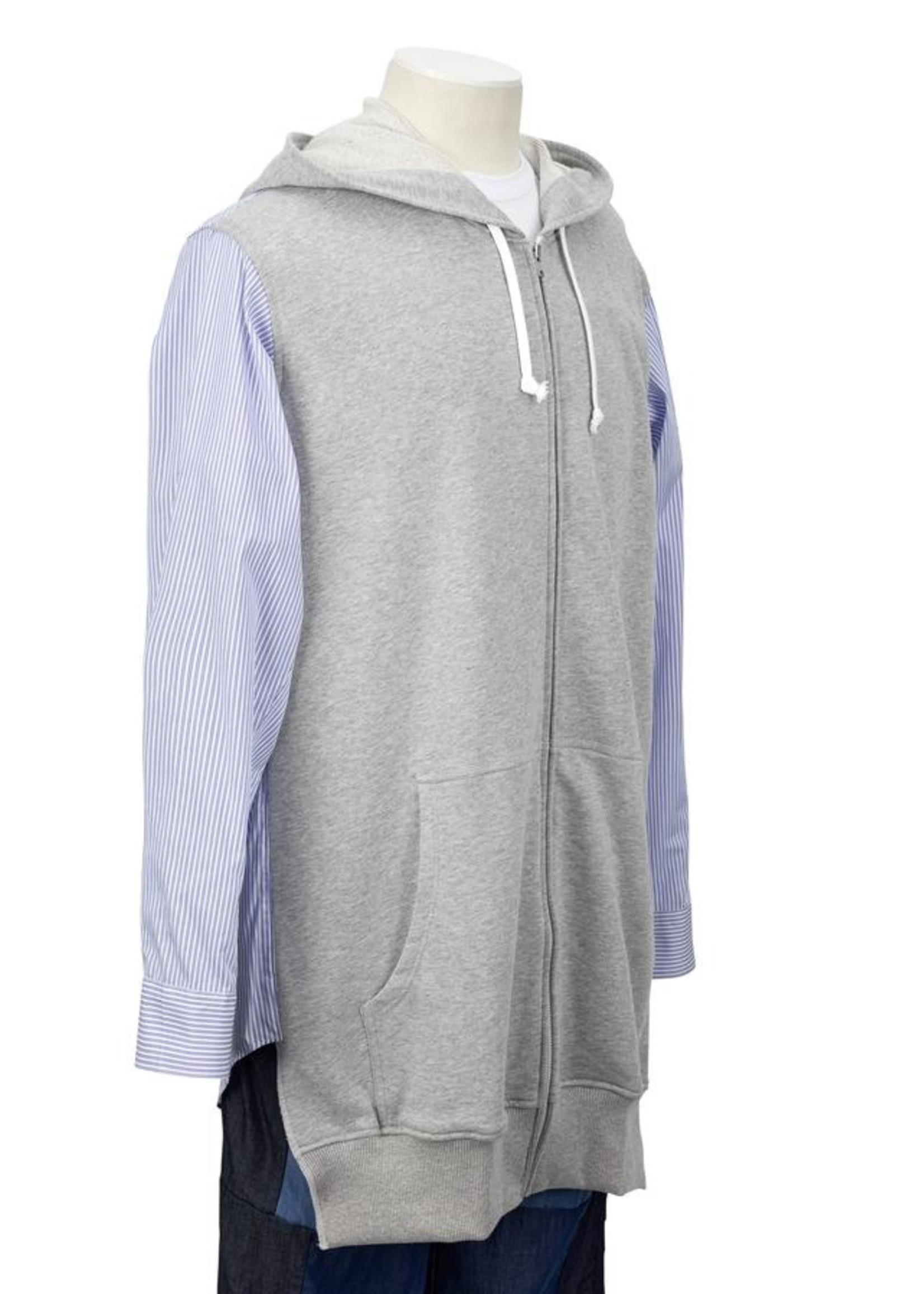 COMME des GARÇONS SHIRT Combo Zip Hoodie/Shirt