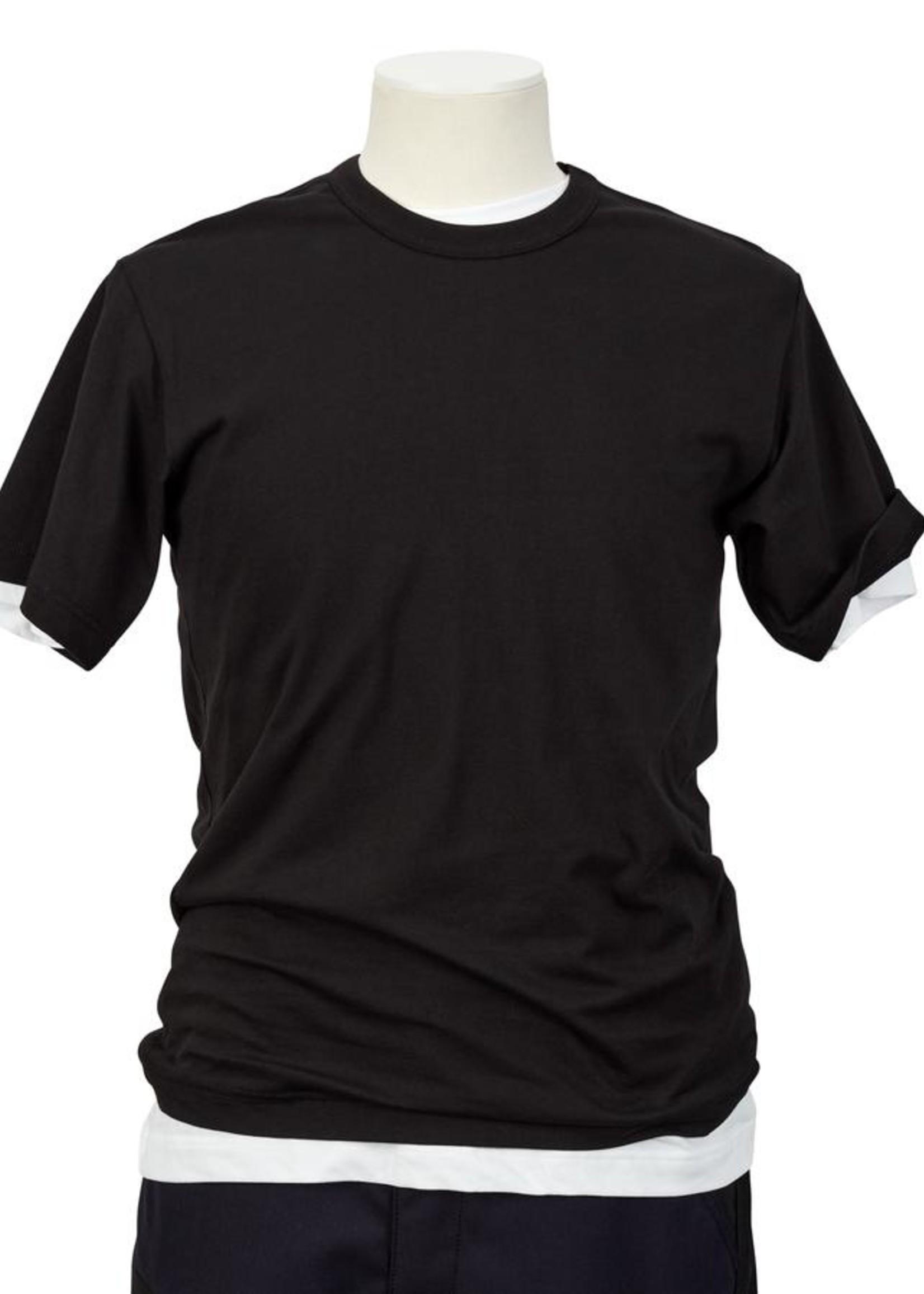 COMME des GARÇONS SHIRT LOGO T-SHIRT IN Black
