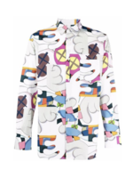 COMME des GARÇONS SHIRT CDG X KAWS All Over Print Shirt