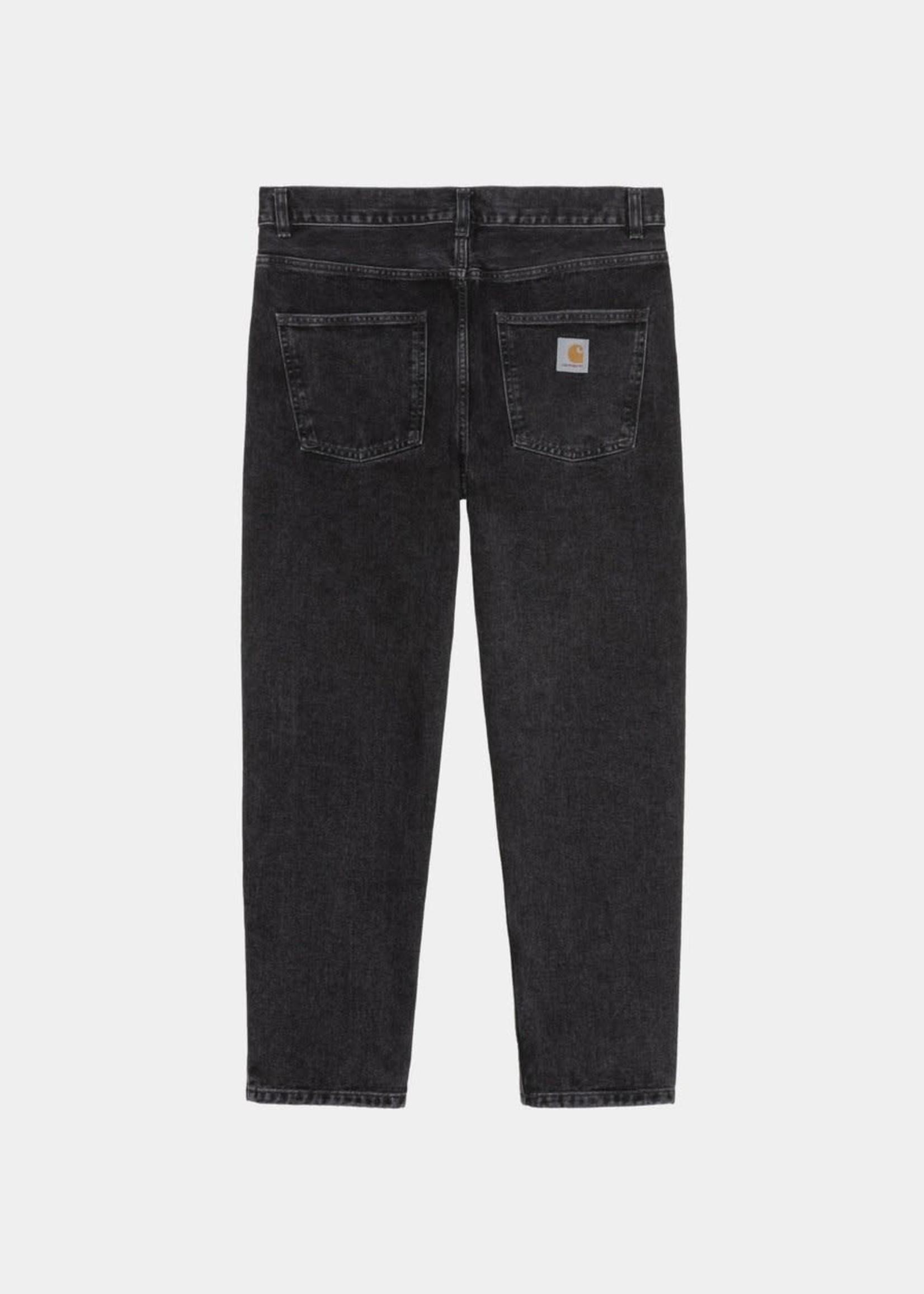 Carhartt Work In Progress Newel Jeans in Black Stone Wash