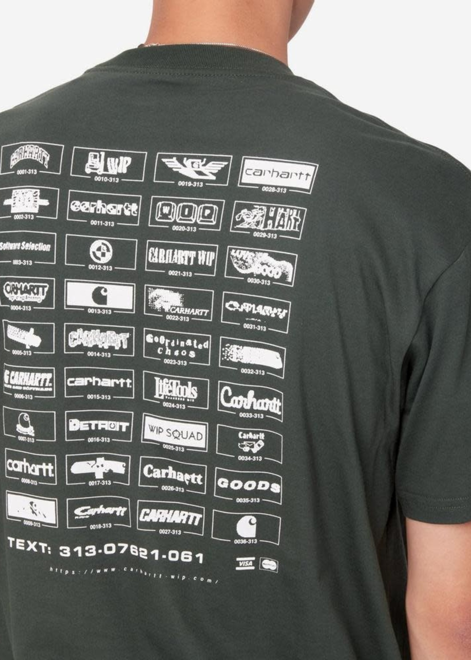 Carhartt Work In Progress Screensaver T-shirt in Slate