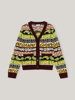 GANNI Recycled Wool Smiley Cardigan