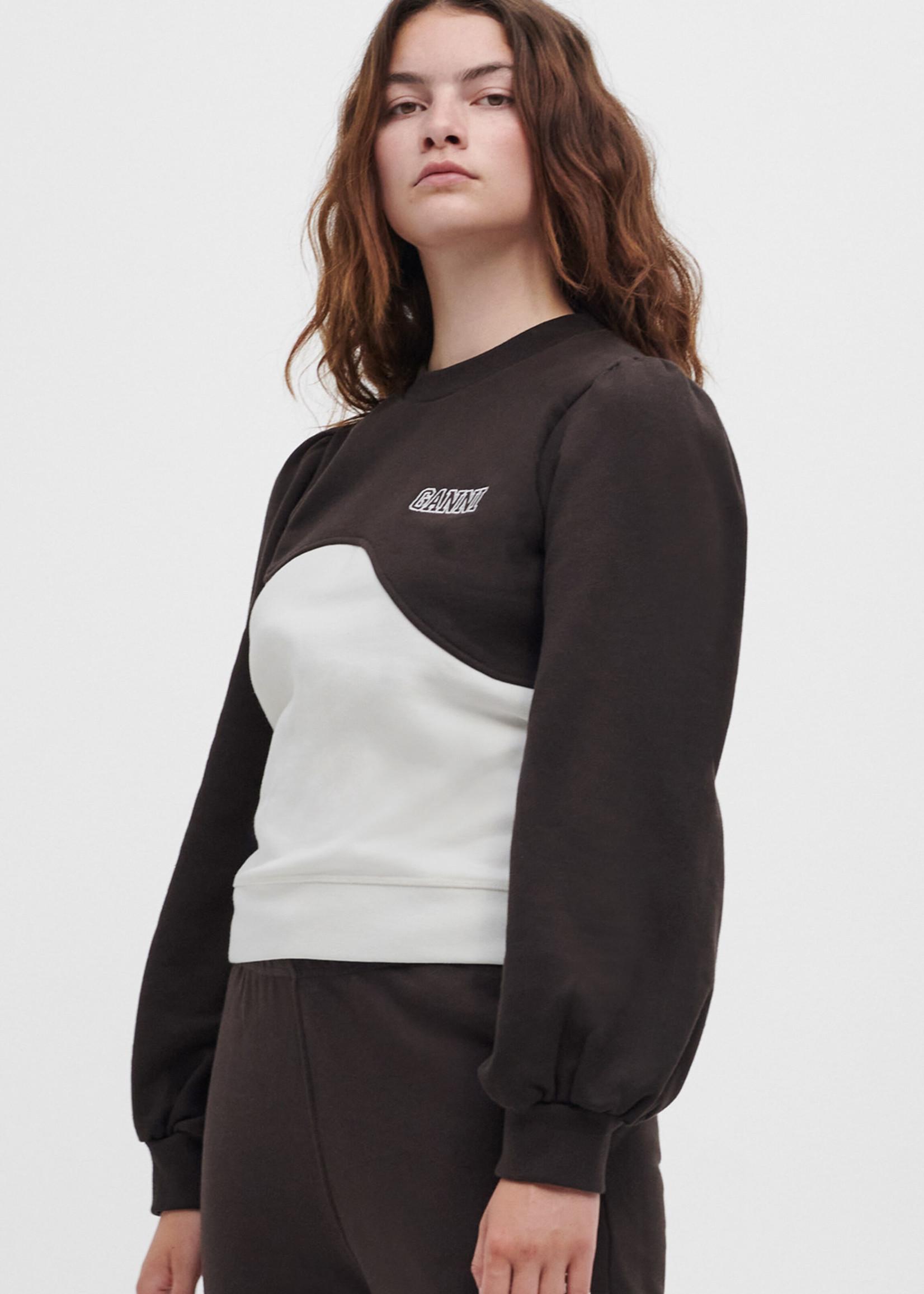 GANNI Wave Sweatshirt in Brown