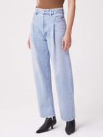 AGOLDE Fold Waistband High Rise Straight Tapered Jean in Sideline