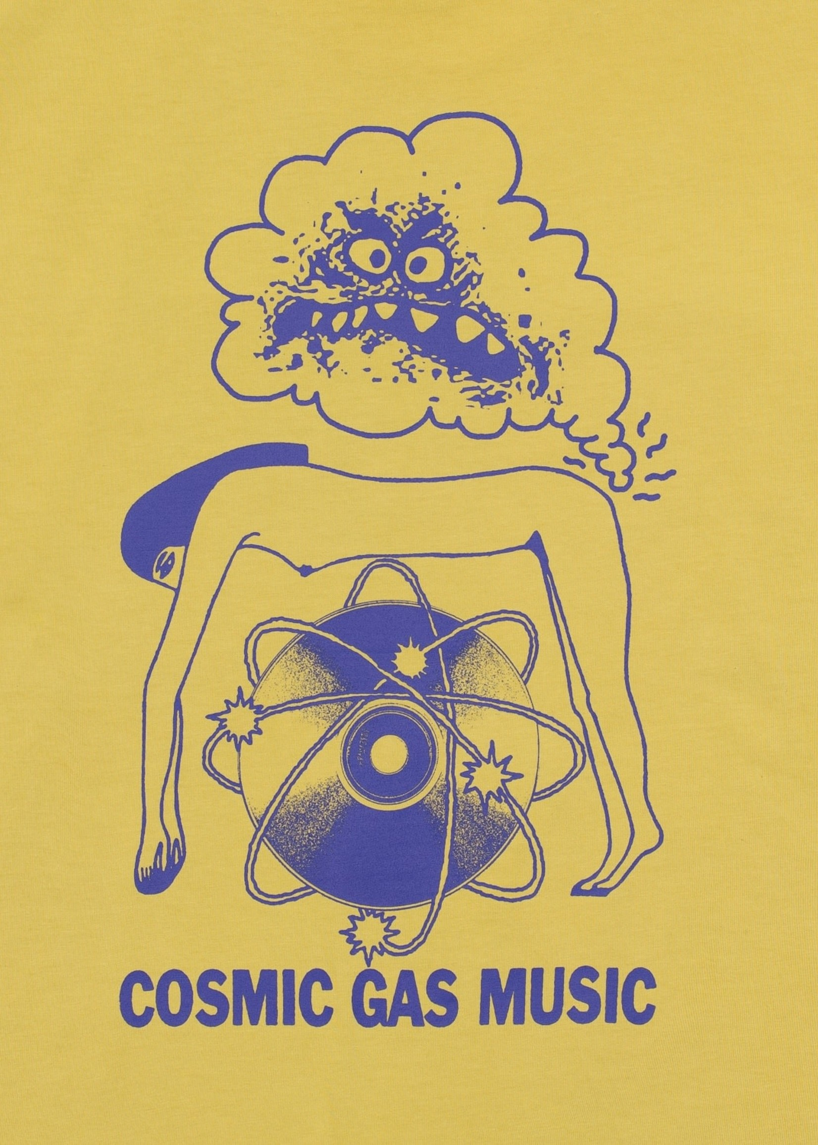 Brain Dead Cosmic Gas T-shirt in Gold