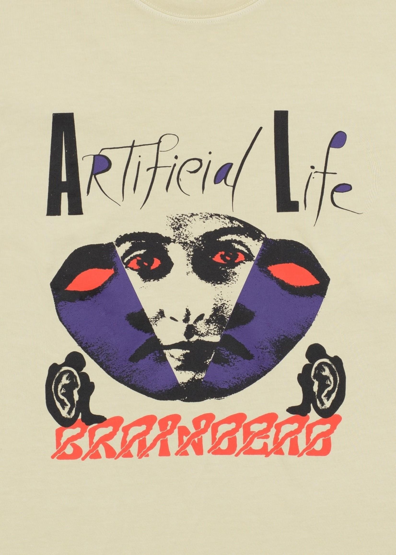 Brain Dead Artificial Life T-shirt in Sand