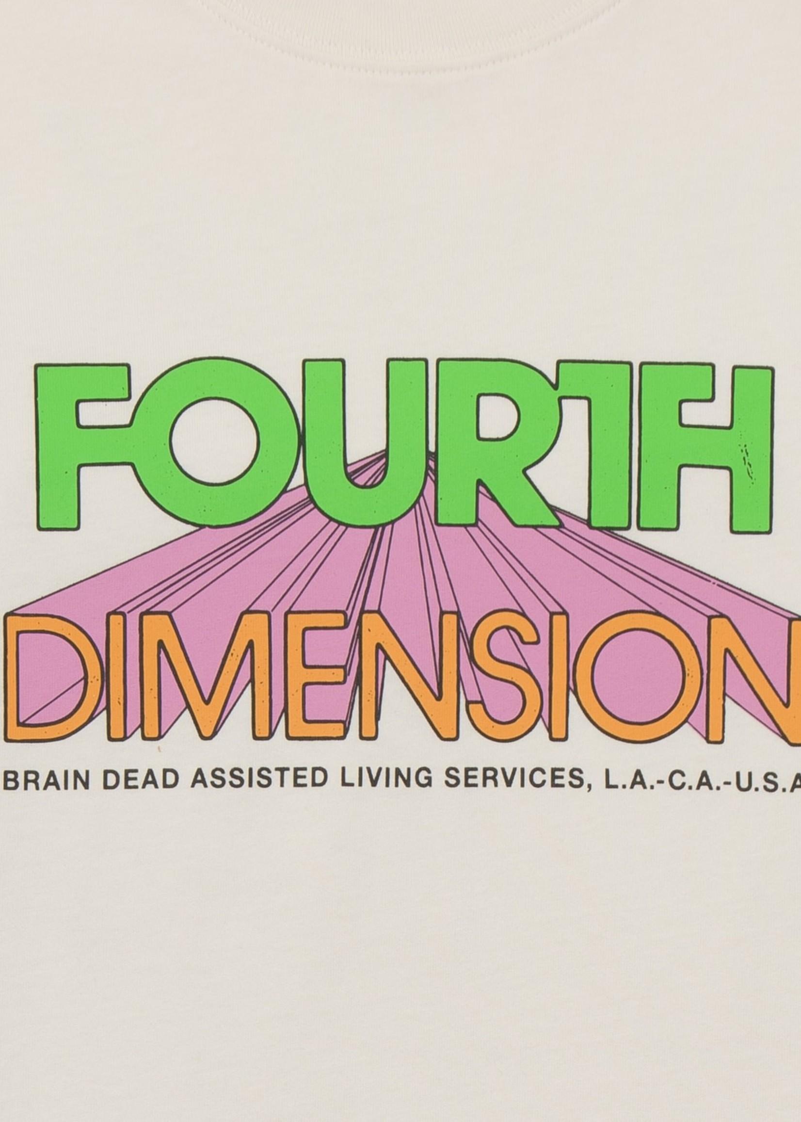 Brain Dead Fourth Dimension T-shirt in Natural