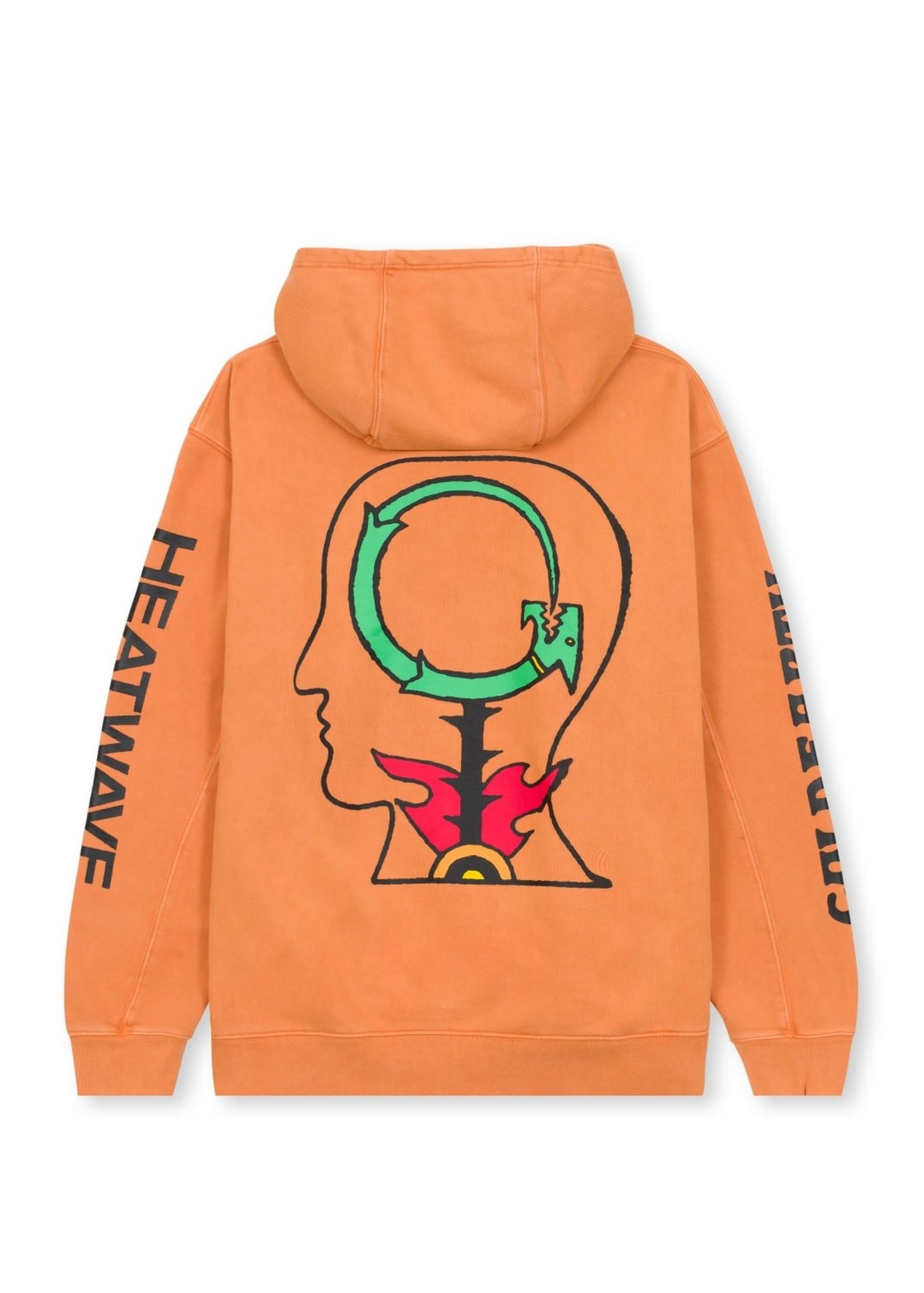 Brain Dead Heatwave Hooded Sweatshirt in Orange