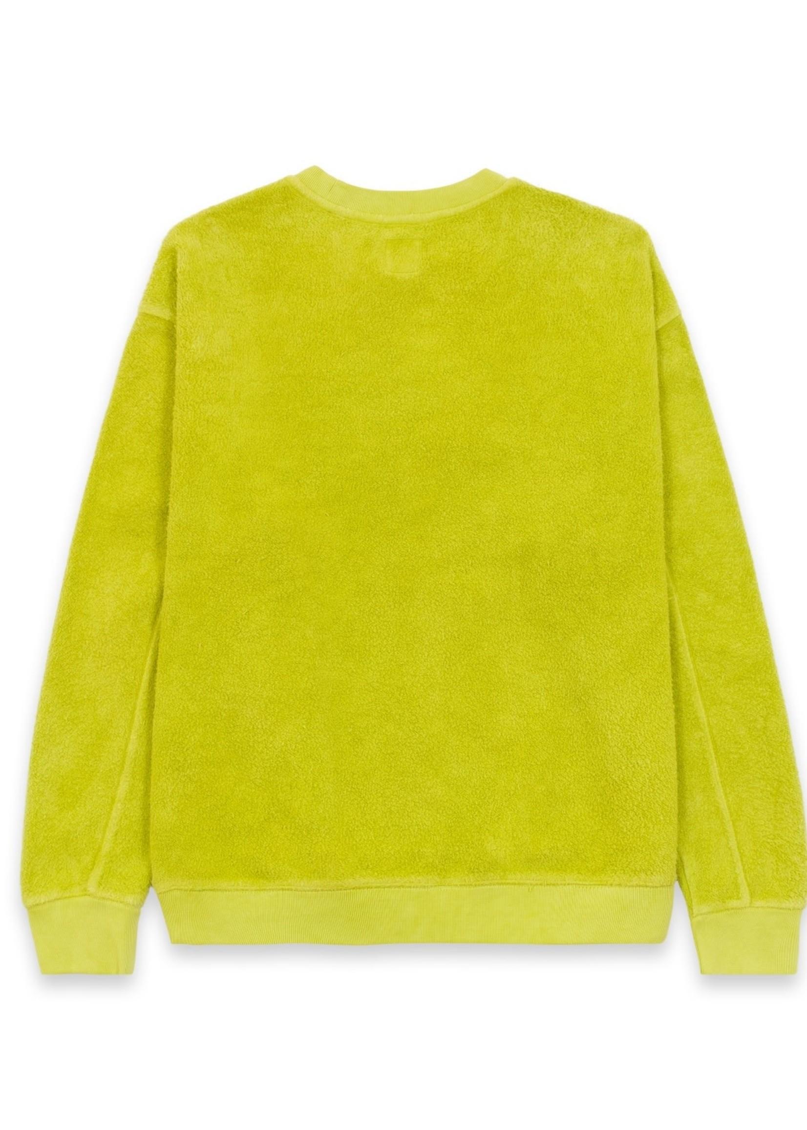 Brain Dead Slime Reversed Fleece Crewneck Sweatshirt in  Apple