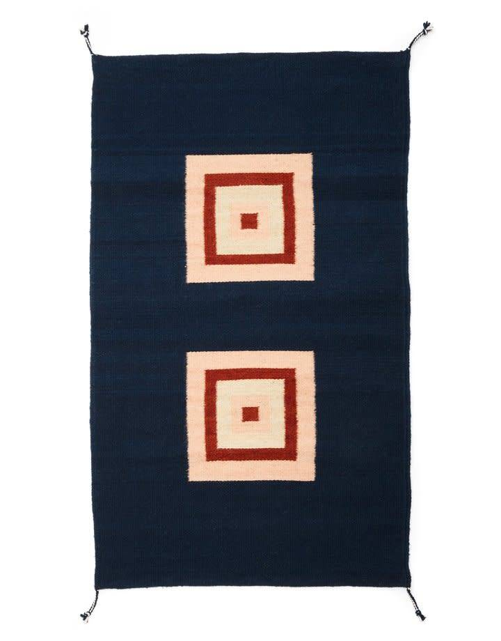 Minna Cubitos Rug  in Indigo by minna