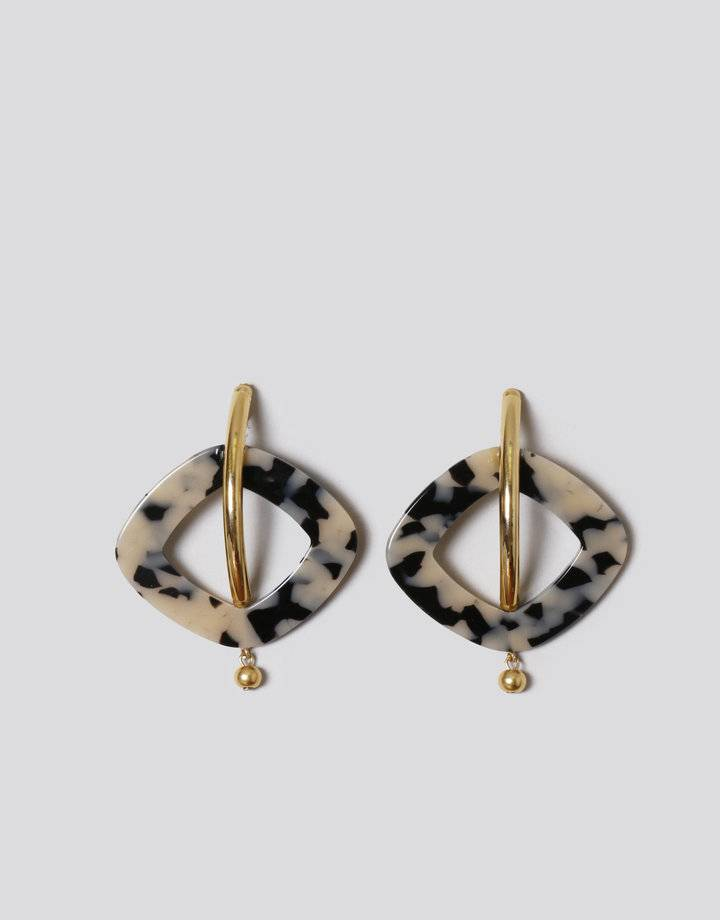 Rachel Comey Rachel Comey Realm Earrings in Dalmatian/Gold