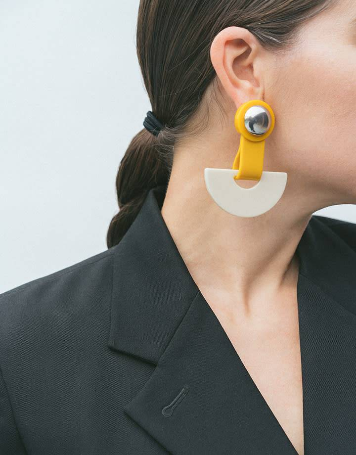 Rachel Comey Rachel Comey Zora Earrings in Mustard and Bone