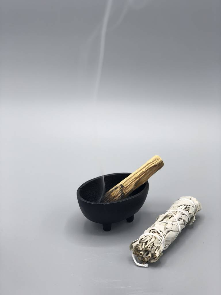 NOW or NEVER Cast Iron Burning Bowl: Small