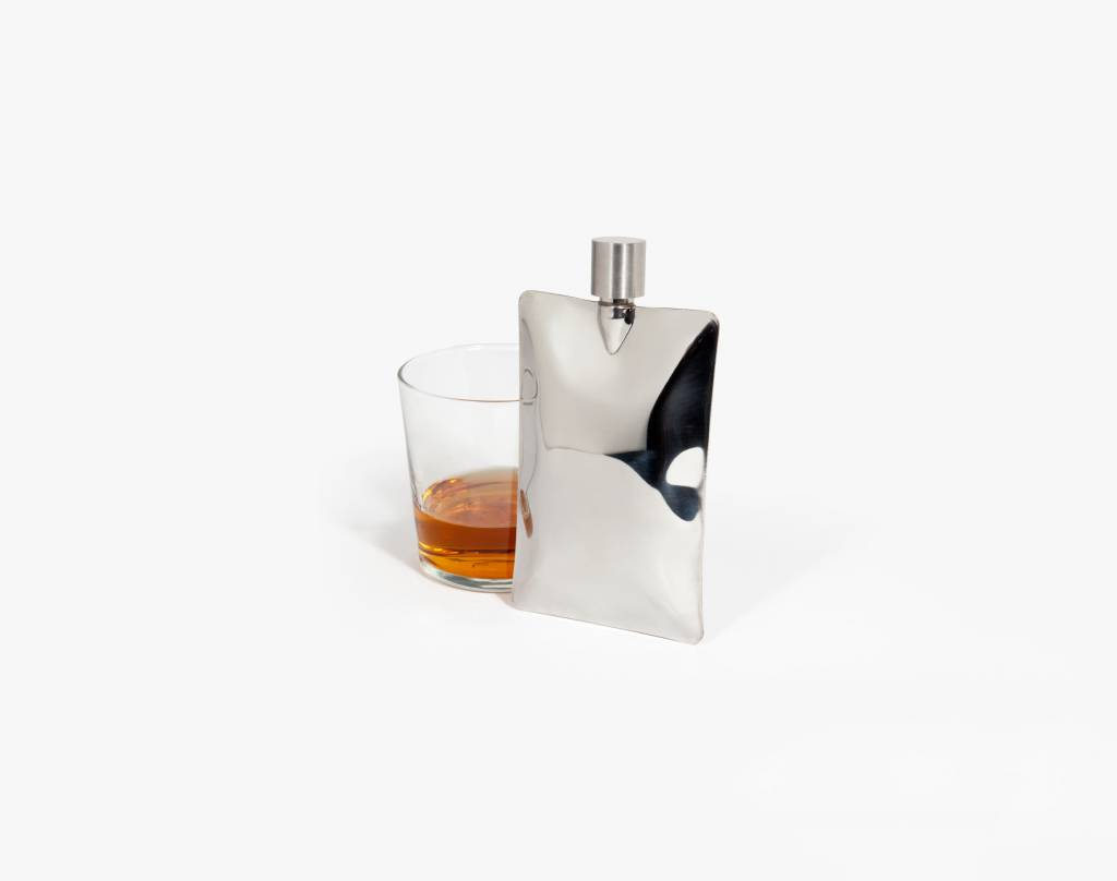 Areaware Liquid Body Flask in Stainless Steel by Areaware