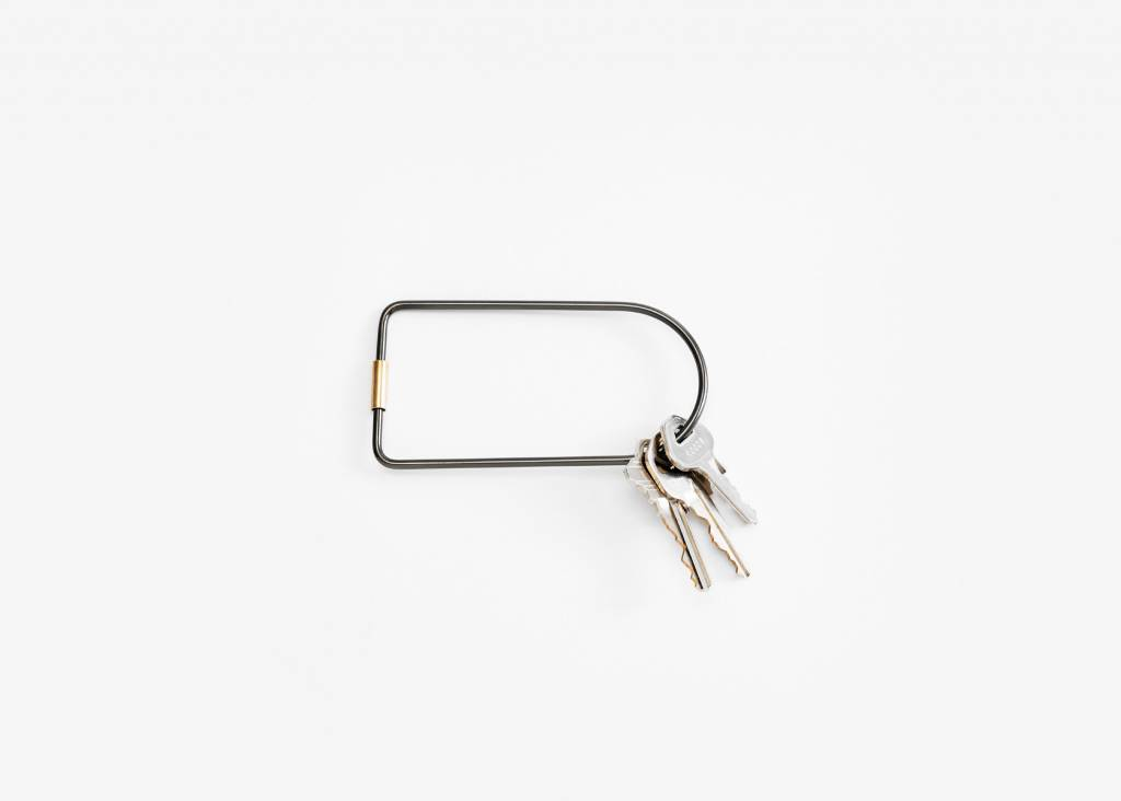 Areaware Contour Key Ring in Black from Areaware