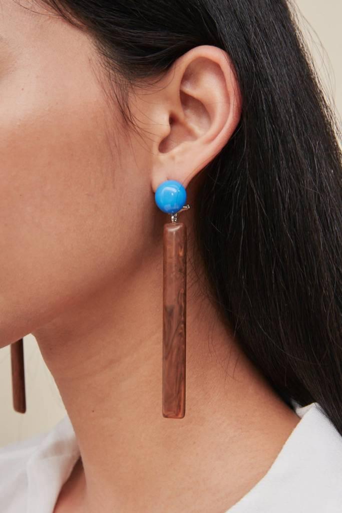 Rachel Comey Rachel Comey Mission Earrings: Blue/Tiger