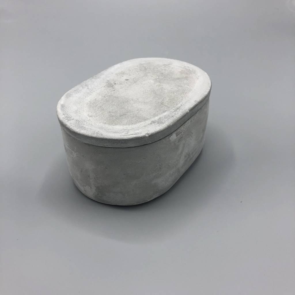Oval Concrete Box