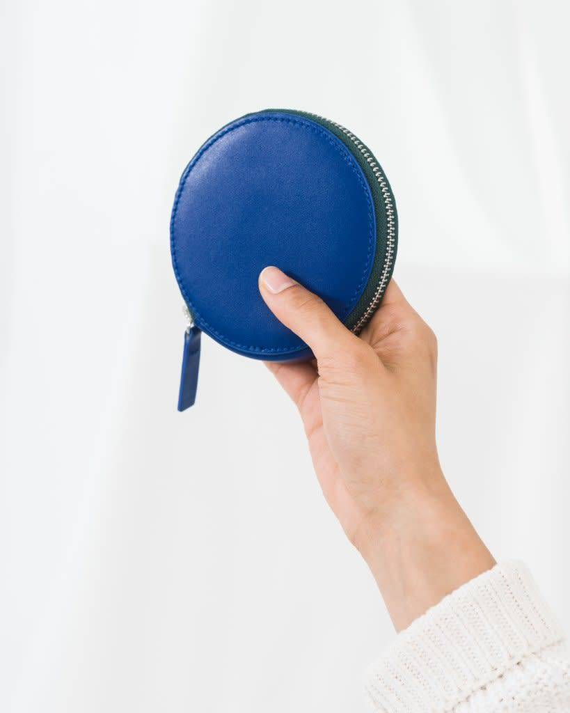 Baggu Leather Circle Zip Wallet