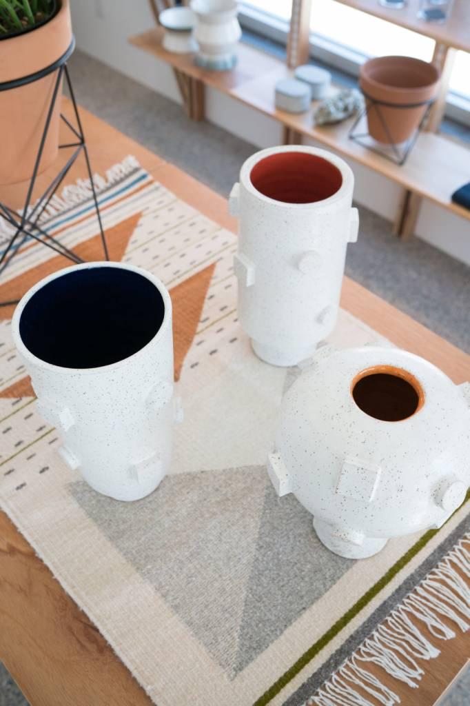 Natan Moss Ceramics Artificial Intelligence Vase:  Navy Taper