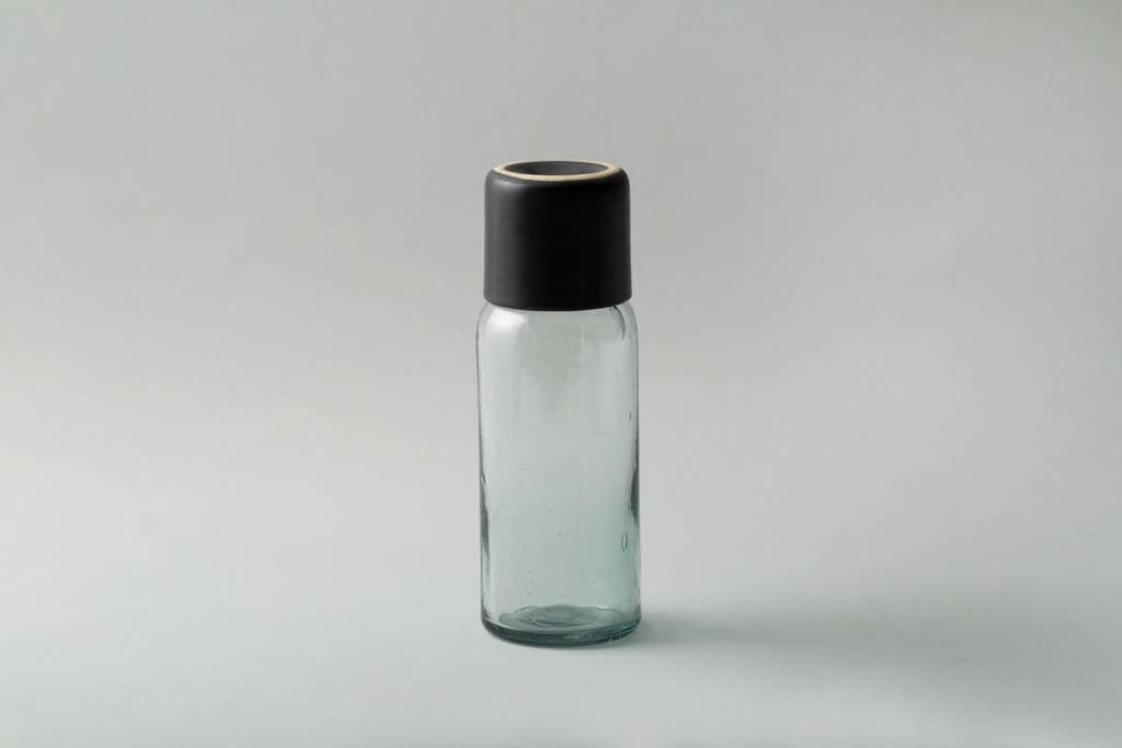 Lagos Del Mundo Glass Carafe with Black Cup