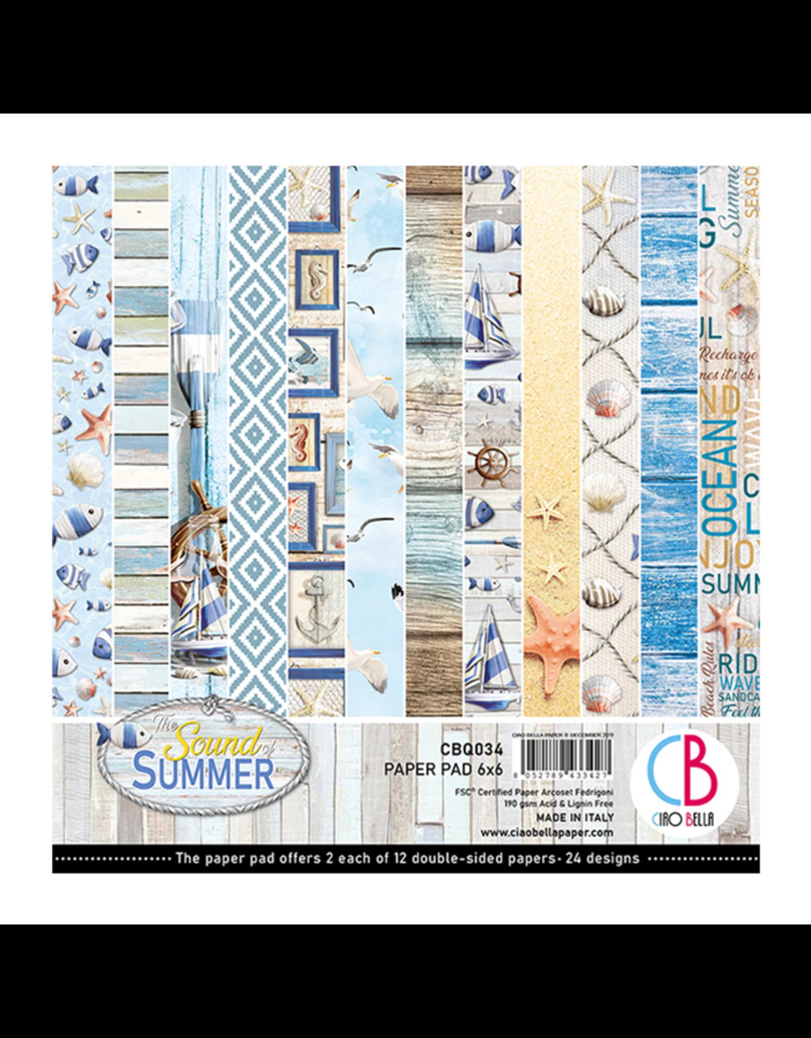 12 Designs//2 Each CIAO BELLA PAPER CBQ034 Sum Pap PCK 6X6 24//PK Sound Of Summer