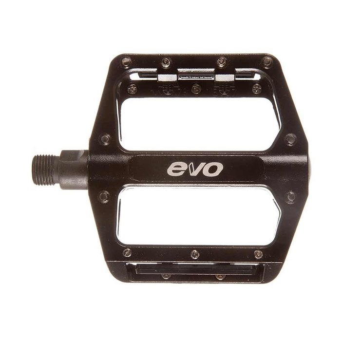 EVO, MX-6, Platform Pedals, Body: Aluminum, Spindle: Cr-Mo, 9/16'', Black, Pair
