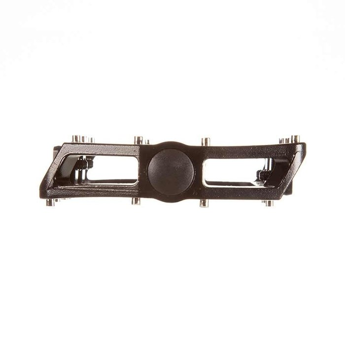 EVO, MX-6, Platform Pedals, Body: Aluminum, Spindle: Cr-Mo, 9/16'', Black, Pair