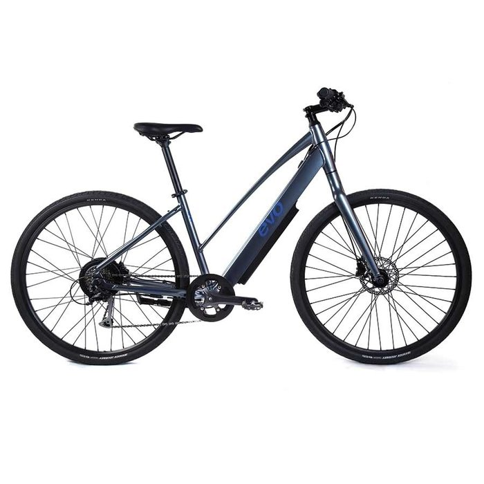 EVO, Bushwick Step-Though, Electric Bicycle, 700C, Twilight Charcoal, 17''