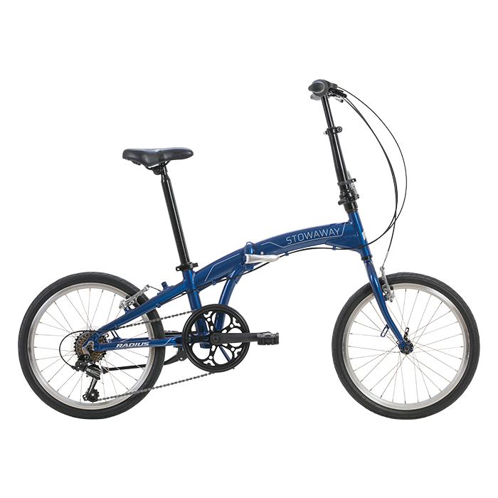 Radius Stowaway Folding Bike BLU/GLS CHRM