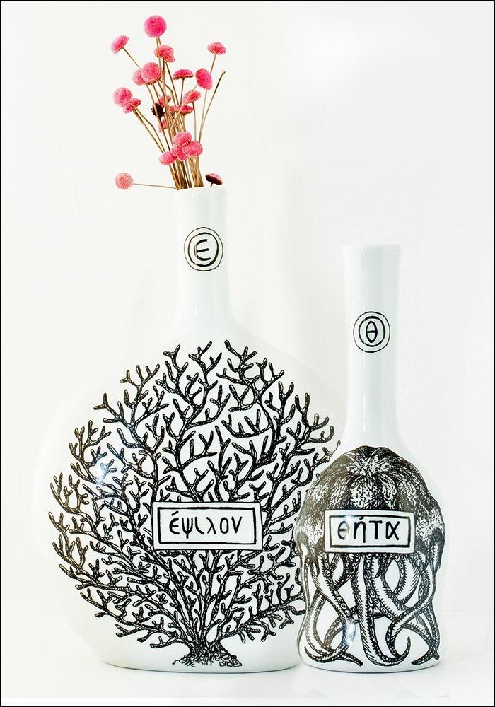 Virebent Hand Painted Porcelain Bottle