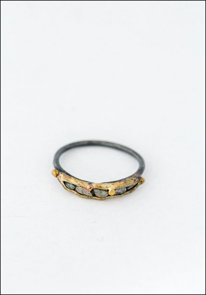 Variance Objects Rose Cut Diamond Band