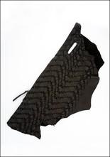 Claudio Cutuli Laser Cut Leather Asymmetric Clutch