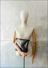 Sous Les Paves Motif Leather Clutch