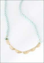 Seaworthy Seaworthy Brass and Rope Wave Necklace