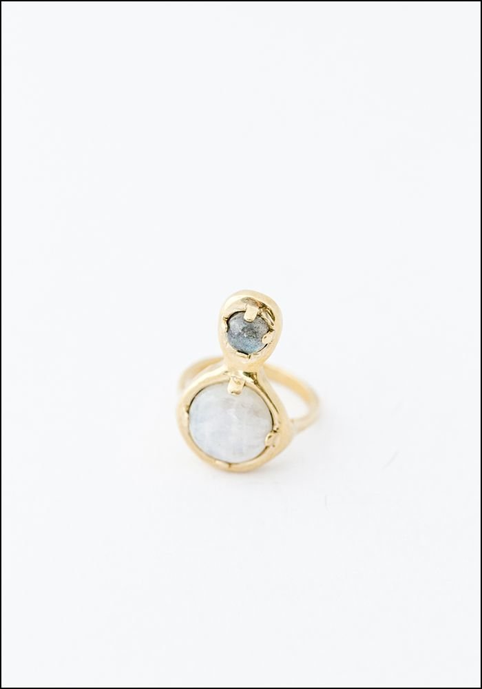 Seaworthy Seaworthy Moonstone Labradorite Drop Ring