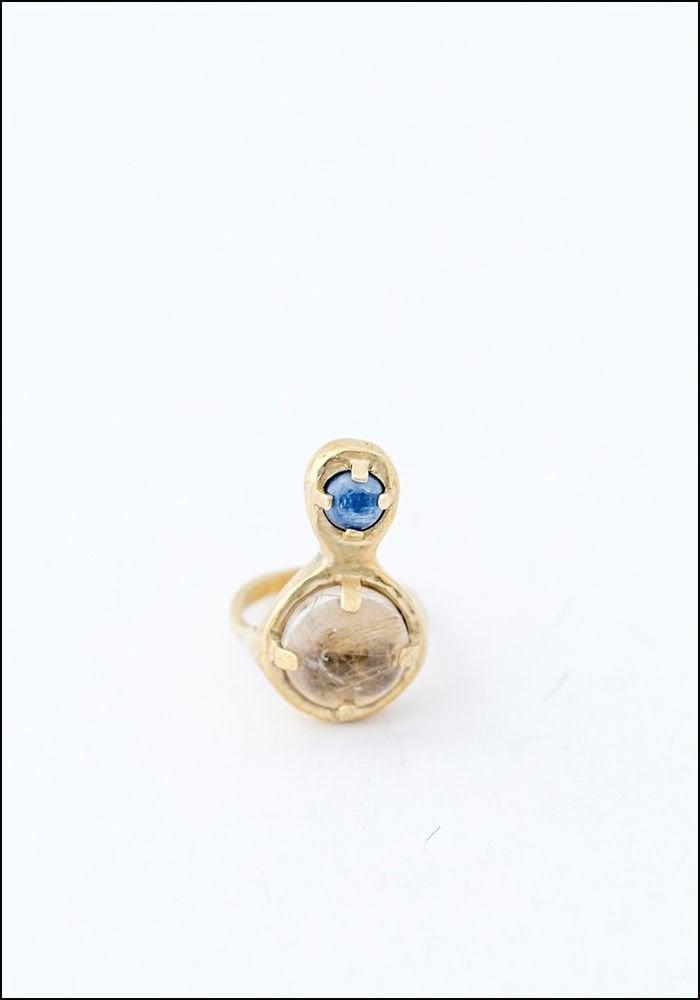 Seaworthy Seaworthy Quartz and Kyanite Drops Ring