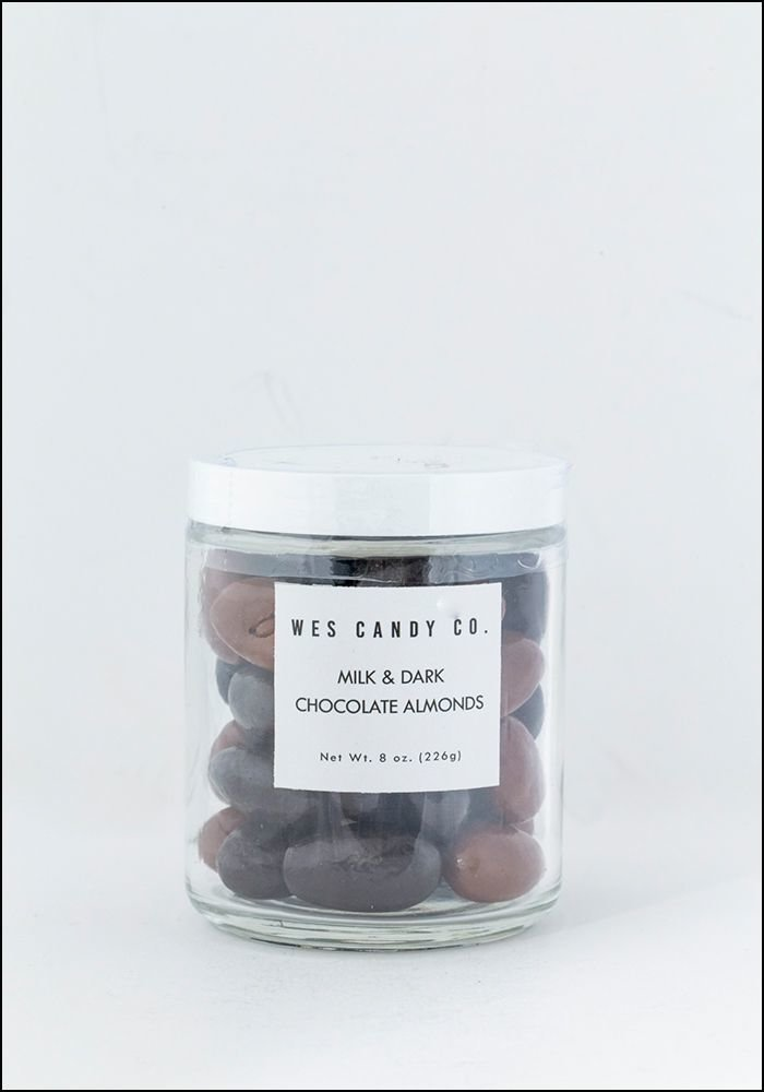 Wes Wes Candy Co Milk and Dark Chocolate Almond