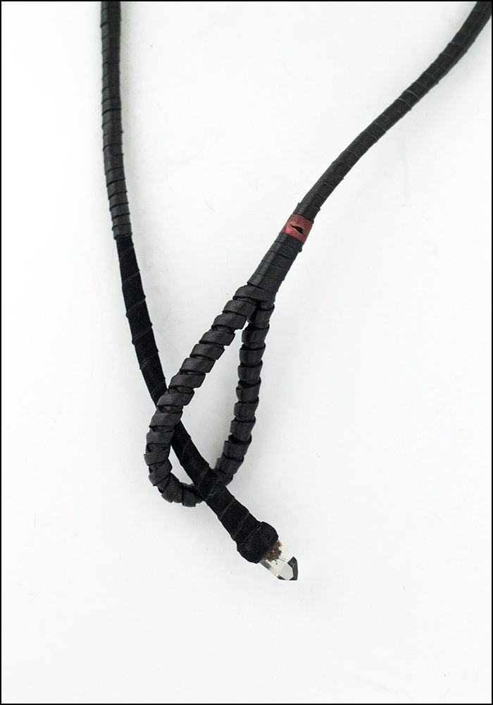 Design Aust Design Aust Quartz Tip Leather Lariat