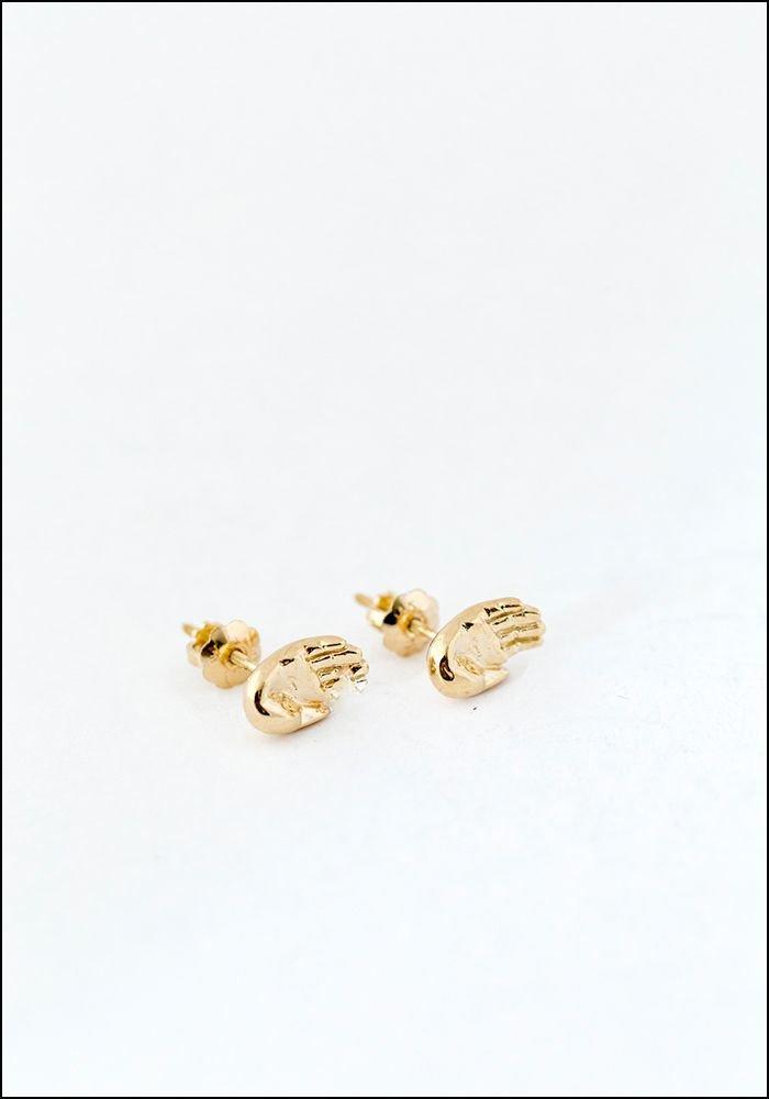 Elaine Ho Elaine Ho Talisman 14KT Gold Hand Studs