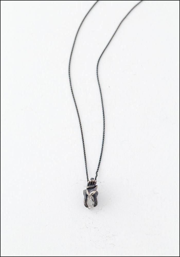Elaine Ho Elaine Ho Hand Talisman Crystal Necklace
