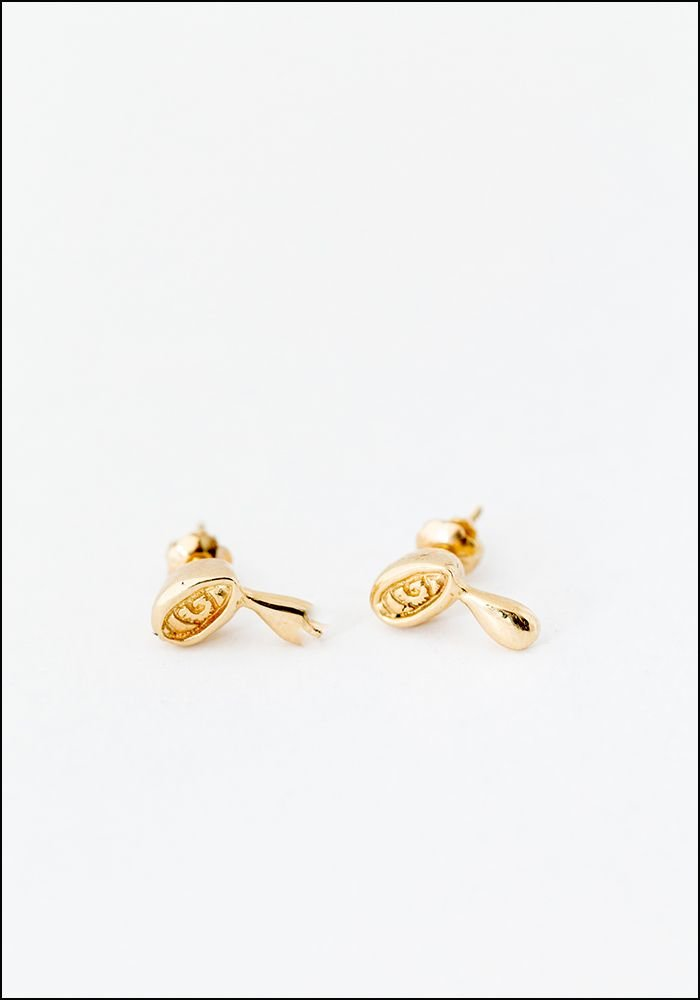 Elaine Ho Elaine Ho Talisman 14KT Gold Crying Eye Studs