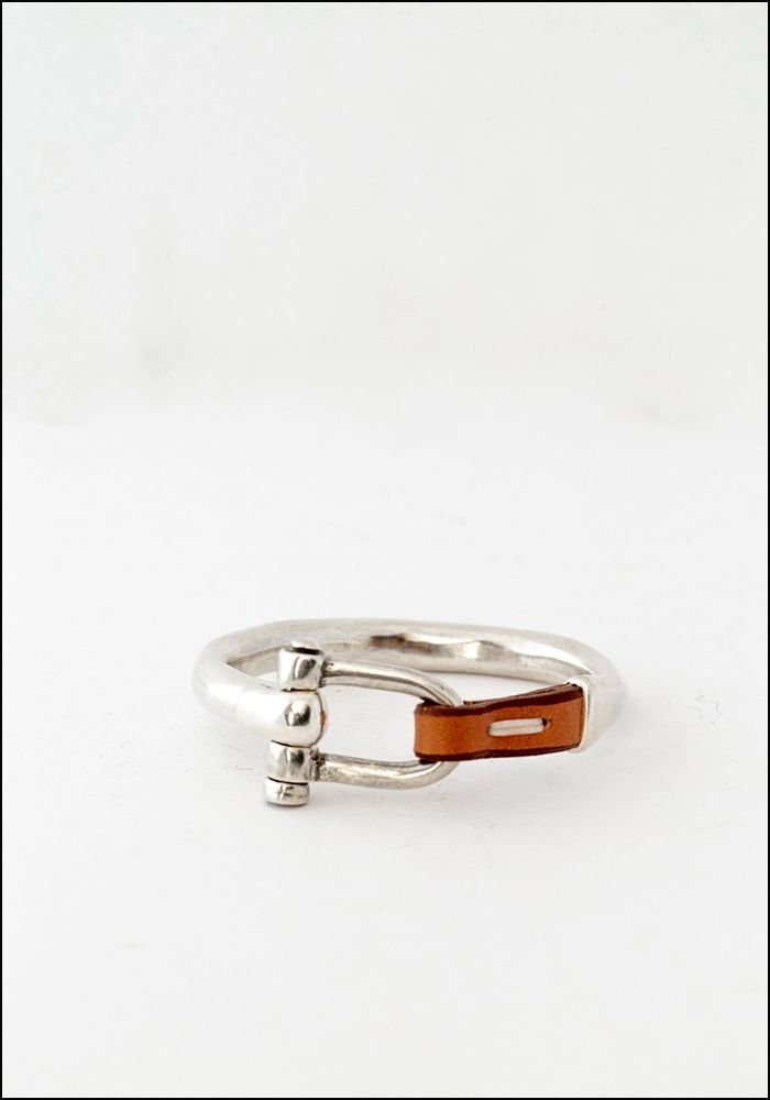 CXC Leather Stitch Bangle Bracelet