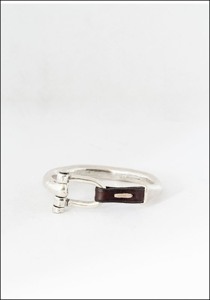 CXC Leather Stitch Bangle Bracelet
