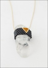 ild ild Bead Wrapped Crystal Necklace