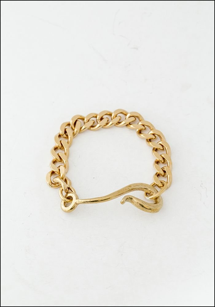 LHN LHN Hook and Chain Brass Bracelet